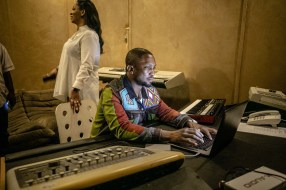 Deola and Darey at the Live Spot Music Studio